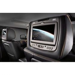 TV Headrests with Two DVD Players and Headphones