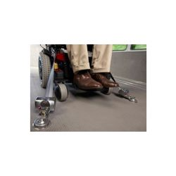Single wheel Chair tie down (4) Q-Straints mounted in 4 locations