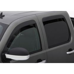 Seamless low-pro black vent visors 4 windows