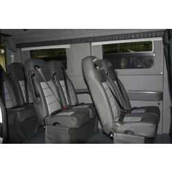 High Back Plush Leather Shuttle Seats